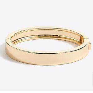 J Crew Factory Classic Gold Bangle Bracelet Preppy